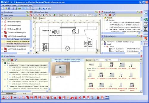 Gewiss gwbus 1 0 il nuovo software di progettazione e for Software di progettazione domestica personalizzato